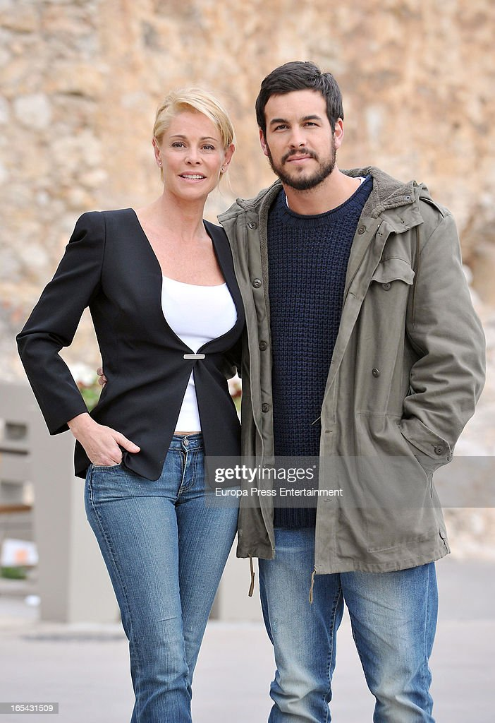 Belen Rueda and Mario Casas are seen on the set of their latest film 'Ismael' on March 25, 2013 in Barcelona, Spain.