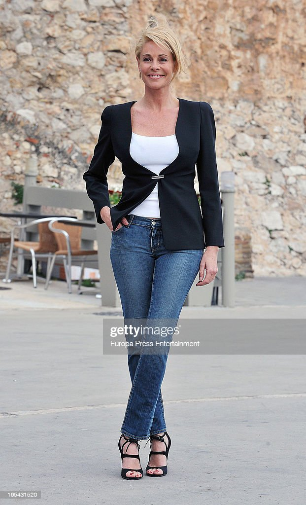 Belen Rueda is seen on the set of their latest film 'Ismael' on March 25, 2013 in Barcelona, Spain.
