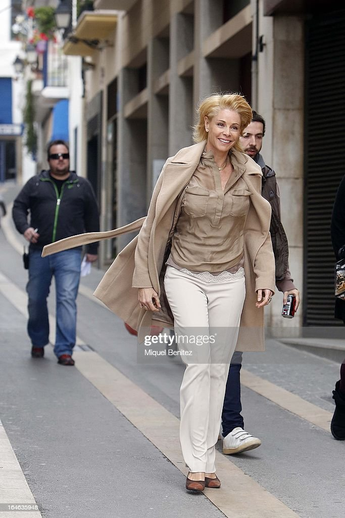 Belen Rueda on the set of her latest film 'Ismael' on March 25, 2013 in Barcelona, Spain.
