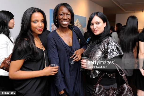 Belen Wandwasser Sauniele Connally and Avril Lemieux attend Act 1's Spring 2011 Fashion Show at Arario Gallery 521 West 25th St on November 10th 2010...