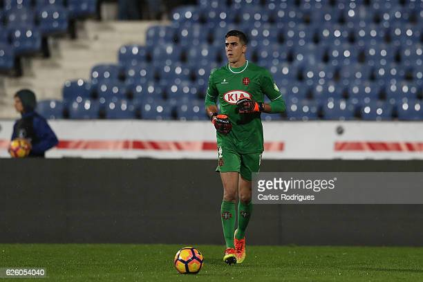 Belenenses' goalkeeper Joel Pereira from Portugal from Portugal during the Portuguese Primeira Liga match between CF Os Belenenses and FC Porto at...