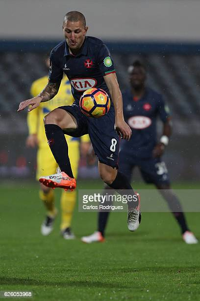Belenenses' midfielder Andre Sousa from Portugal during the Portuguese Primeira Liga match between CF Os Belenenses and FC Porto at Estadio do...