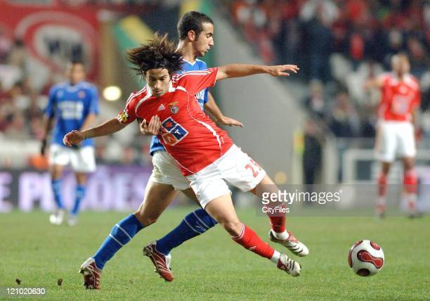 Belenenses' Ruben Amorim and Benfica's Nuno Assis in action during their Portuguese Bwin League match December 21 2006 in Lisbon Portugal