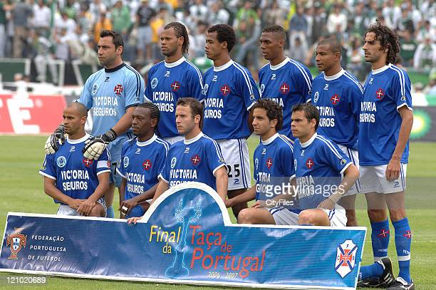 Belenenses Team during the Portuguese Cup Final match between Belenenses and Sporting Lisbon held in Lisbon Portugal on May 27 2007