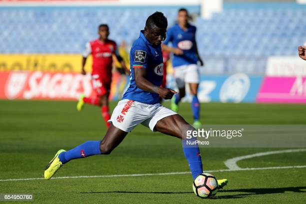 Belenensess forward Abel Camara from Portugal during Premier League 2016/17 match between Os Belenenses and SC Braga at Restelo Stadium in Lisbon on...