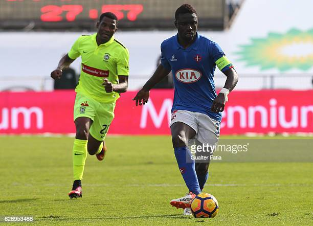 Belenenses's forward Abel Camara from Portugal in action during the Primeira Liga match between CF Os Belenenses and CS Maritimo at Estadio do...