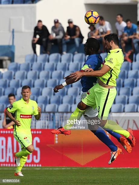 Belenenses's forward Abel Camara from Portugal with CS Maritimo's defender Mauricio Carvalho from Brazil in action during the Primeira Liga match...