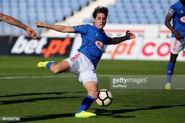 Belenensess forward Juanto Ortuno from Spain during Premier League 2016/17 match between Os Belenenses and SC Braga at Restelo Stadium in Lisbon on...