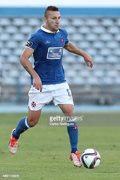 Belenenses's midfielder Andre Sousa during the match between Os Belenenses and CS Maritimo at Estadio do Restelo on August 31 2015 in Lisbon Portugal