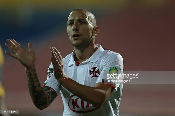 Belenenses's midfielder Andre Sousa from Portugal during the match between Estoril Praia SAD and CF Os Belenenses for the Portuguese Primeira Liga at...