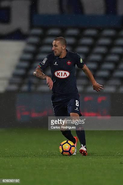 Belenenses's midfielder Andre Sousa from Portugal during the Portuguese Primeira Liga between CF Os Belenenses v FC Porto Primeira Liga at Estadio do...