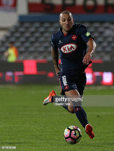 Belenenses's midfielder Andre Sousa from Portugal in action during the Primeira Liga match between Belenenses and SL Benfica at Estadio do Restelo on...