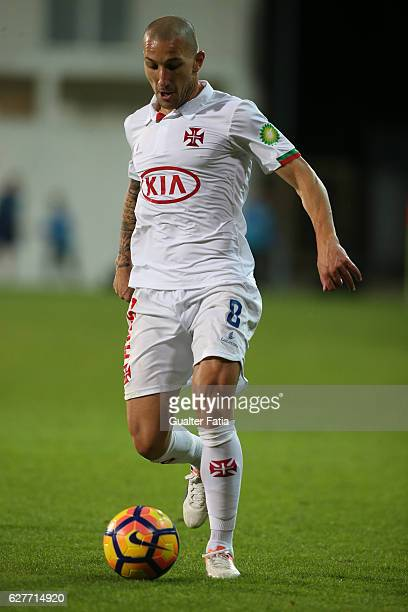 Belenenses's midfielder Andre Sousa from Portugal in action during the Primeira Liga match between GD Estoril Praia and CF Os Belenenses at Estadio...