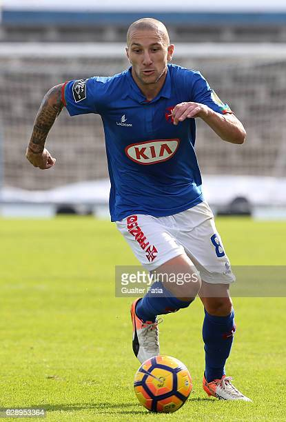 Belenenses's midfielder Andre Sousa from Portugal in action during the Primeira Liga match between CF Os Belenenses and CS Maritimo at Estadio do...