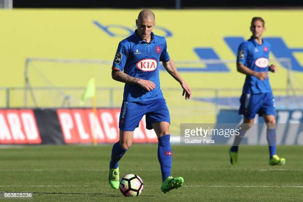 Belenenses's midfielder Andre Sousa from Portugal in action during the Primeira Liga match between CF Os Belenenses and CD Feirense at Estadio do...
