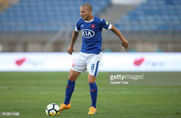 Belenenses's midfielder Andre Sousa from Portugal in action during the PreSeason Friendly match between Sporting CP and CF Os Belenenses at Estadio...