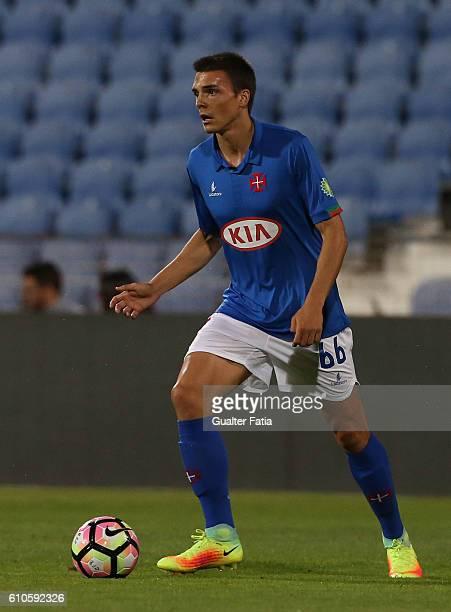 Belenenses's midfielder Joao Palhinha from Portugal in action during the Primeira Liga match between Belenenses and Arouca at Estadio do Restelo on...