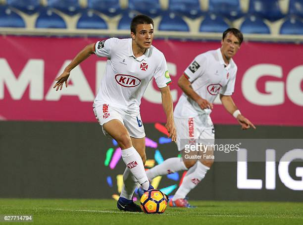 Belenenses's midfielder Joao Palhinha from Portugal in action during the Primeira Liga match between GD Estoril Praia and CF Os Belenenses at Estadio...