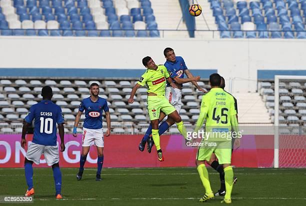 Belenenses's midfielder Joao Palhinha from Portugal with CS Maritimo's midfielder Gevorg Ghazaryan from Armenia in action during the Primeira Liga...