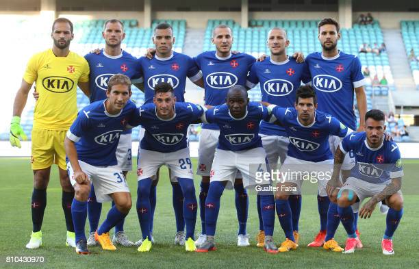 Belenenses's players pose for a team photo before the start of the PreSeason Friendly match between Sporting CP and CF' Belenenses at Estadio Algarve...