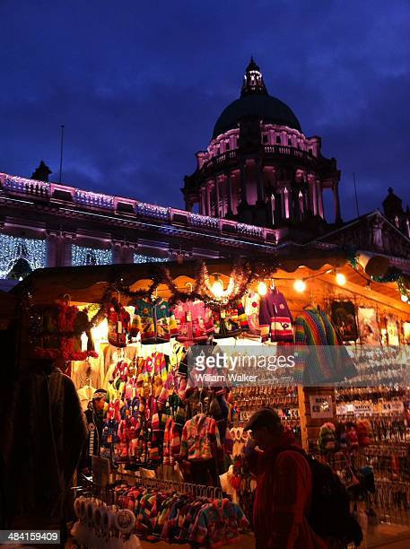 Belfast City Hall and Christmas Market Northern Ireland
