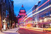 Illuminated Belfast City Hall. Belfast, Northern Ireland, United Kingdom.