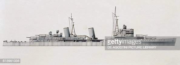 Belfast cruiser United Kingdom drawing