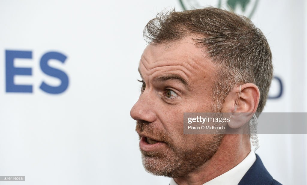 Belfast , Ireland - 13 September 2017; Charles Dagnall, BBC, after the One Day International match between Ireland and West Indies was cancelled due to a wet pitch, at Stormont in Belfast.