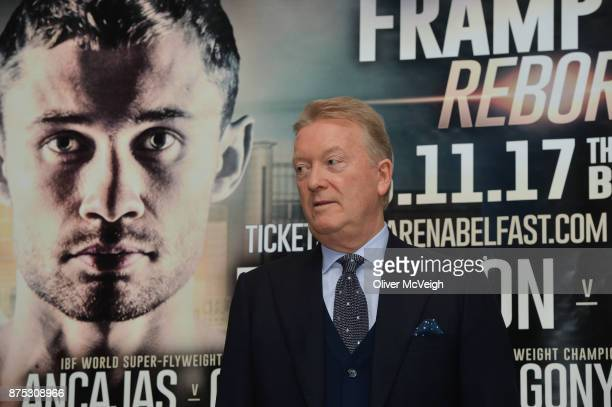 Belfast Ireland 17 November 2017 Promoter Frank Warren during the weighin ahead of the Featherweight bout between Carl Frampton and Horacio Garcia on...