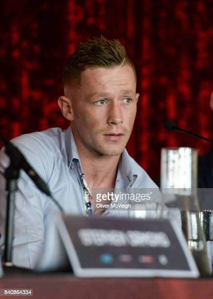 Belfast Ireland 30 August 2017 Feargal McCrory boxing on the undercard during a press conference for the Ryan Burnett v Zhanat Zhakiyanov world...