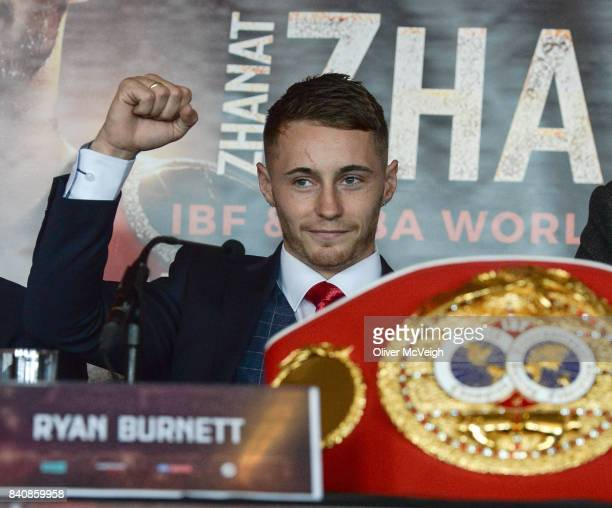 Belfast Ireland 30 August 2017 Ryan Burnett during a press conference ahead of his World Bantamweight Unification title fight at the Europa Hotel in...
