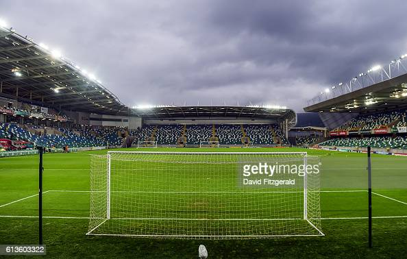 Belfast Ireland 8 October 2016 A general view of Windsor Park ahead of the FIFA World Cup Group C Qualifier match between Northern Ireland and San...