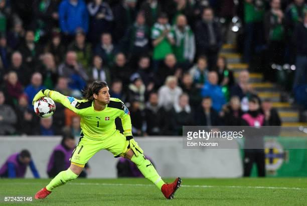 Belfast Ireland 9 November 2017 Yann Sommer of Switzerland in action during the FIFA 2018 World Cup Qualifier Playoff 1st leg match between Northern...