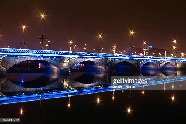Belfast Northern Ireland Bridge at Night