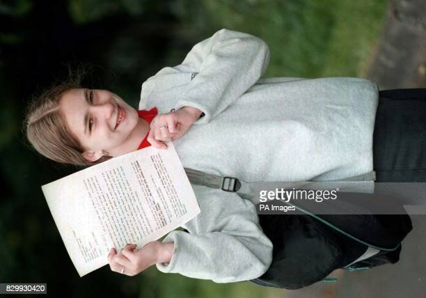 Belfast schoolgirl Margart Gibney from the Shankill Road area who wrote a letter to Prime Minister Tony Blair asking him to send back a poem for her...