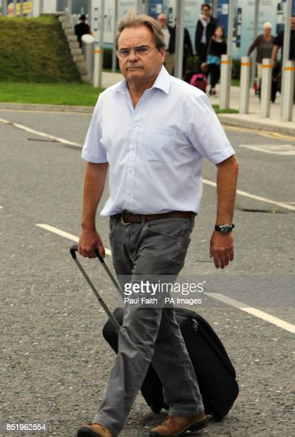 Belfast Solicitor Peter Madden speaks to the media as he arrives at George Best Belfast City Airport on his way to Peru where he will represent...