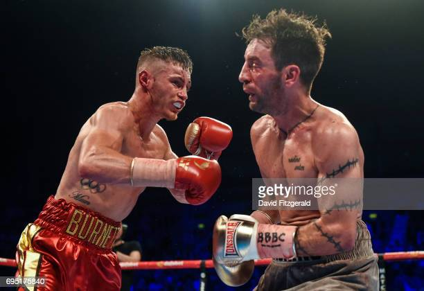 Belfast United Kingdom 10 June 2017 Ryan Burnett left exchanges punches with Lee Haskins during their IBF World Bantamweight Championship bout at the...