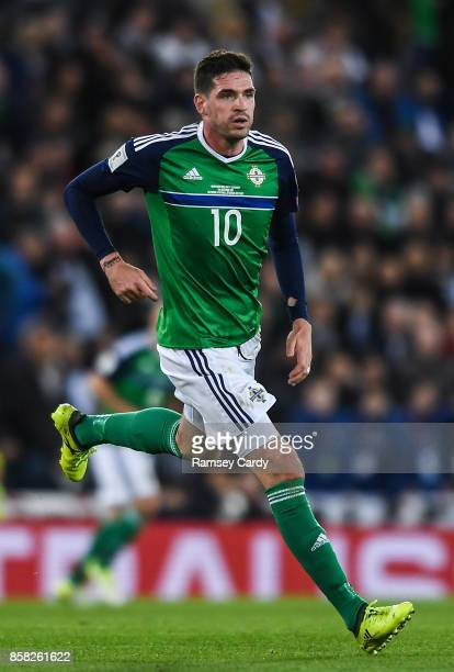 Belfast United Kingdom 5 October 2017 Kyle Lafferty of Northern Ireland during the FIFA World Cup Qualifier Group C match between Northern Ireland...