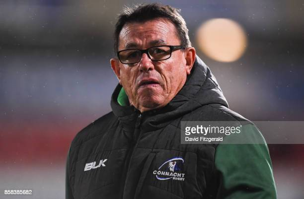 Belfast United Kingdom 6 October 2017 Connacht head coach Kieran Keane prior to the Guinness PRO14 Round 6 match between Ulster and Connacht at the...
