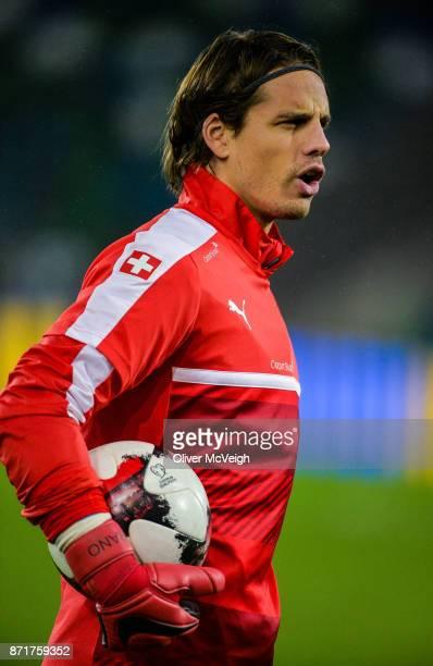 Belfast United Kingdom 8 November 2017 Yann Sommer during Switzerland squad training at Windsor Park in Belfast
