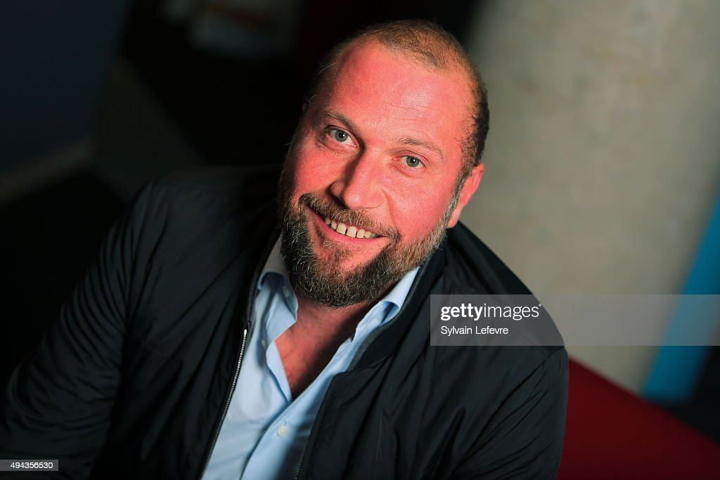 Belgian actor Francois Damiens poses during photo session for film 'Les Cowboys' on October 26, 2015 in Lille, France.