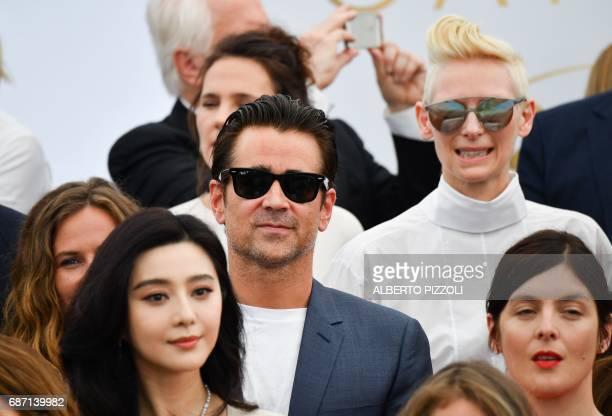 Belgian actress Cecile de France Chinese actress and member of the Feature Film jury Fan Bingbing Irish actor Colin Farrell British actress Tilda...