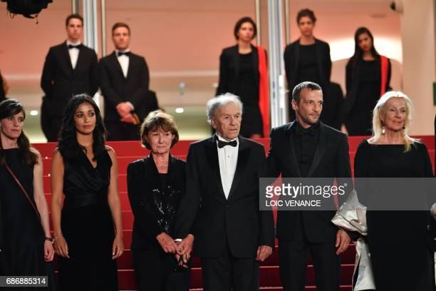 Belgian actress Laura Verlinden French actress Nabiha Akkari Marianne Hoepfner her husband French actor JeanLouis Trintignant French actor Mathieu...