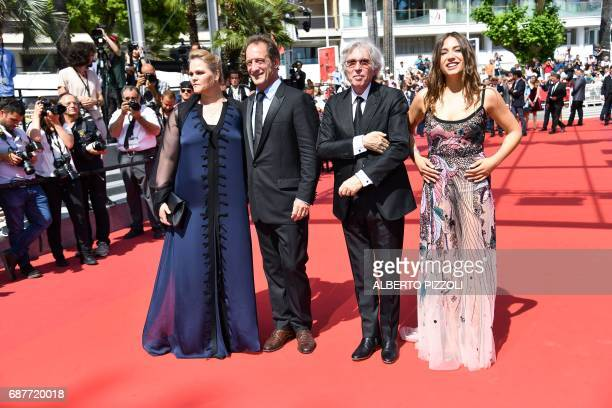 Belgian actress Severine Caneele French actor Vincent Lindon French director Jacques Doillon and French actress Izia Higelin pose as they arrive on...