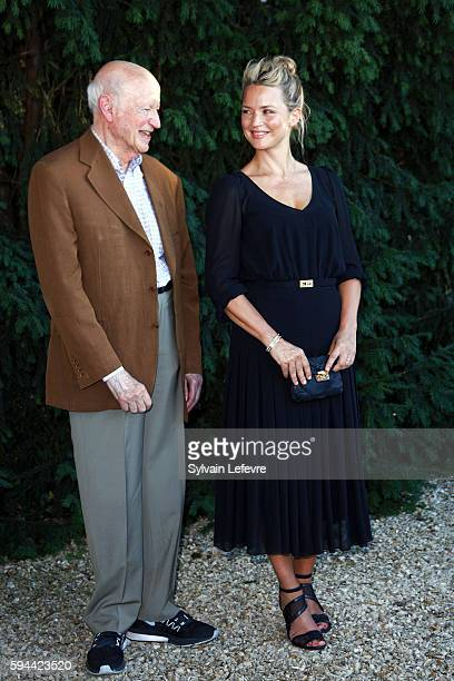 Belgian actress Virginie Efira and Gilles Jacob attend jury photocall of 9th Angouleme FrenchSpeaking Film Festival during on August 23 2016 in...