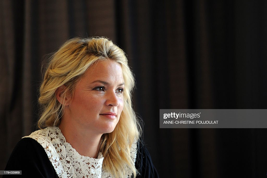 - Belgian actress Virginie Efira gives a press conference for the presentation of her latest movie, 'Les invincibles', on September 3, 2013 in Marseille. AFP PHOTO / ANNE-CHRISTINE POUJOULAT