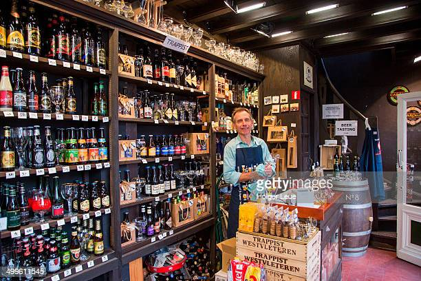 Belgian beers for sale at Abbey No. 8 beer store