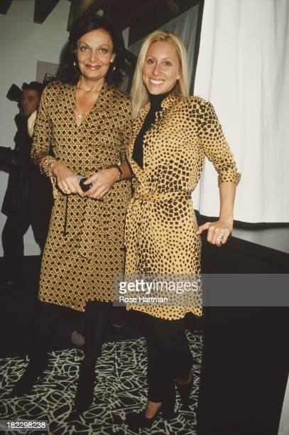 Belgian born American fashion designer Diane von Furstenberg with her daughterinlaw Alexandra von Furstenberg at the Diane von Furstenberg Spring...