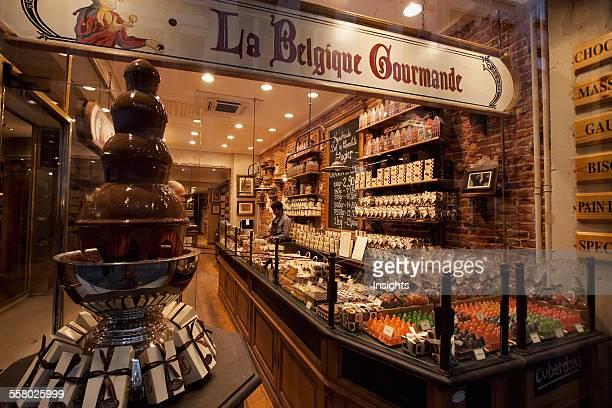 Belgian chocolate store Brussels Belgium