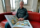 Belgian comic book artist Hermann whose full name is Hermann Huppen pose prior to receiving the lifetime achievement award 'Grand Prix de la ville...